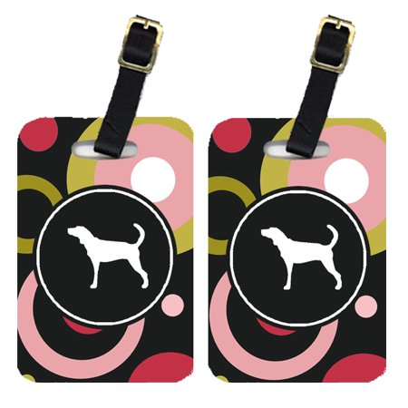 Pair of 2 Plott Hound Luggage Tags (Plott Hound Puppies For Sale In Nc)