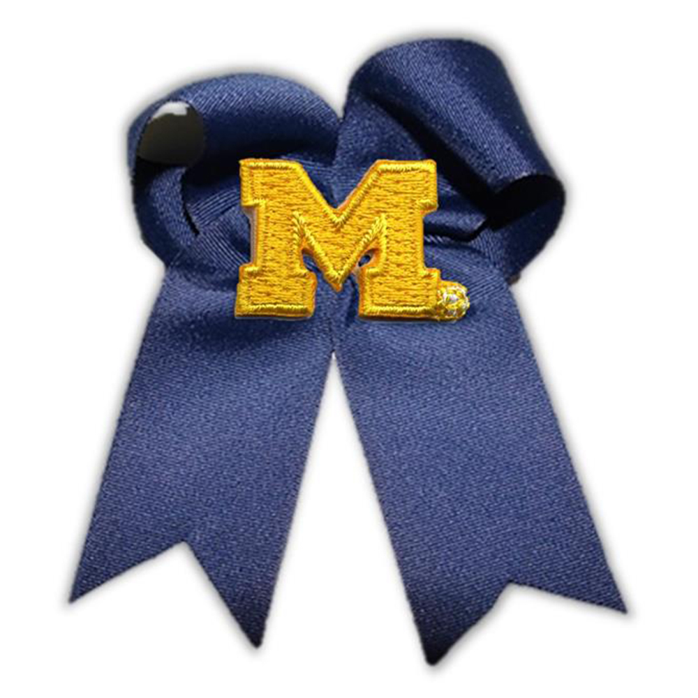 Michigan Wolverines NCAA Large Cheer Bow
