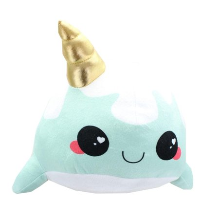 Glitter Galaxy 12-Inch Ice Cream Cone Horn Blue Narwhal Collectible Plush](Ice Cream Plush)