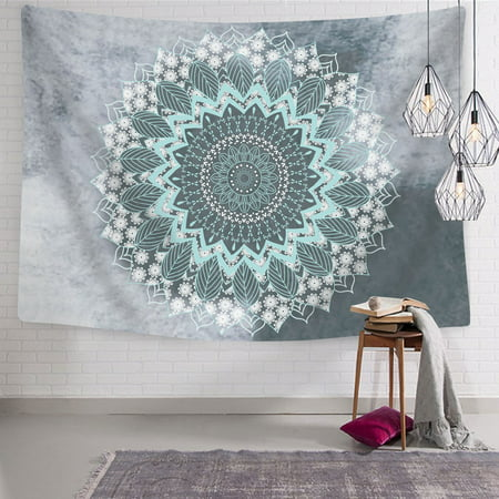 Tapestry Mandala Hippie Bohemian Tapestries Wall Hanging Flower Psychedelic Tapestry Wall Hanging Indian Dorm Decor for Living Room Bedroom -- 51.2