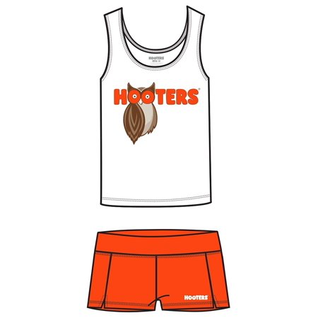 Hooters Tank and Shorts Outfit Costume Set (Girl XX-Large) - Cheap Hooters Halloween Costume