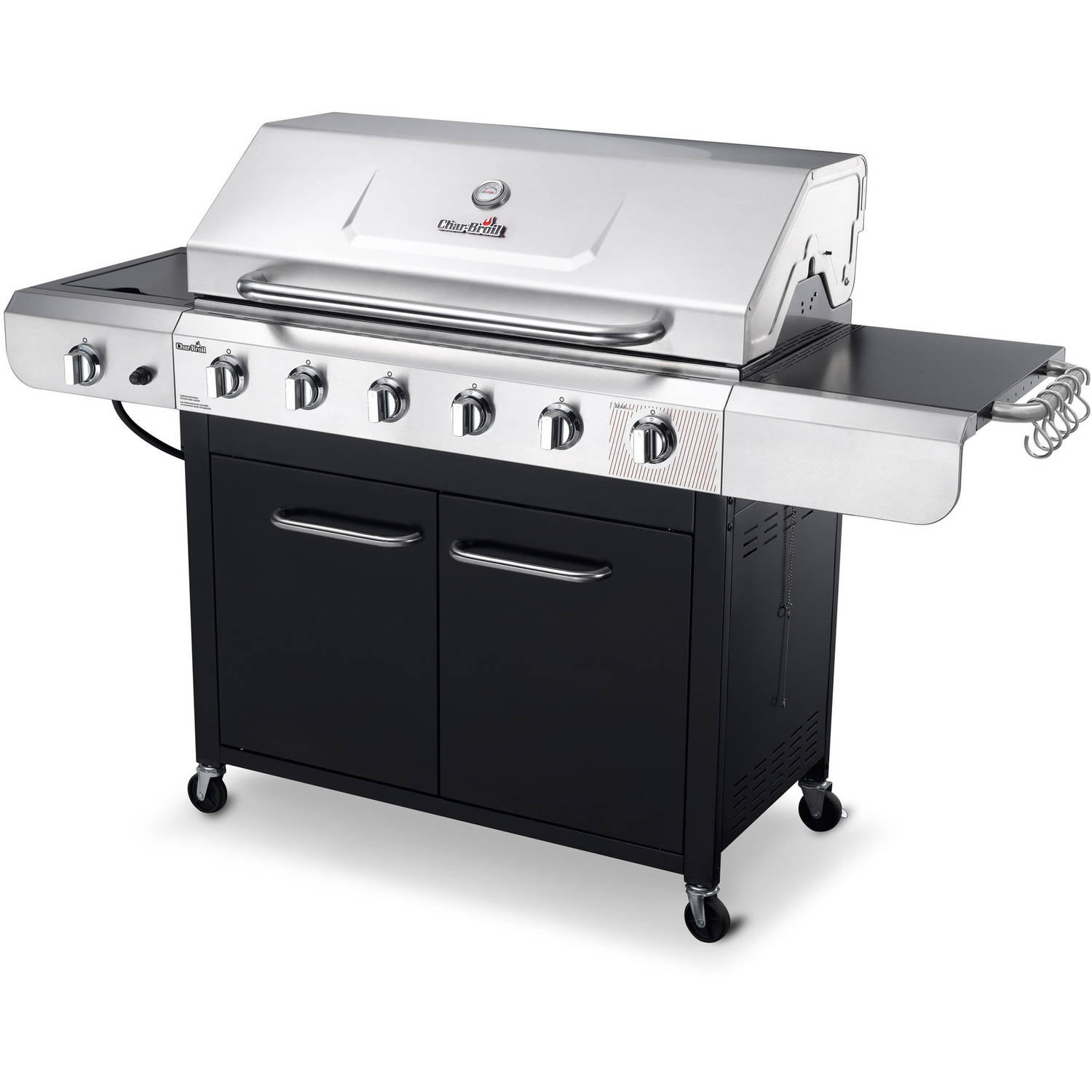 Char-Broil Convective 6-Burner Grill, Stainless Steel/Black