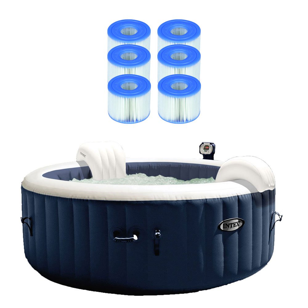 Intex Pure Spa Inflatable Hot Tub w/ Type S1 Easy Set Filter Cartridges (6 Pack)