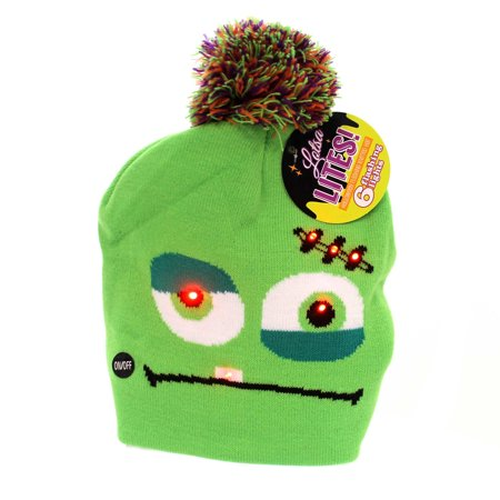 Apparel HALLOWEEN KNITTED FLASHING HAT Fabric Lights - Mastodon Halloween Mp3