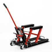 Steel Hydraulic Motorcycle ATV Lift Jack Hoist Stand 1500Lb