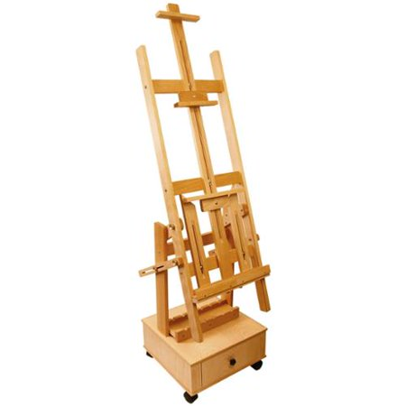 US Art Supply Double Rocker Multi-Purpose Studio Easel H-Frame (Double Adjustable Easel)