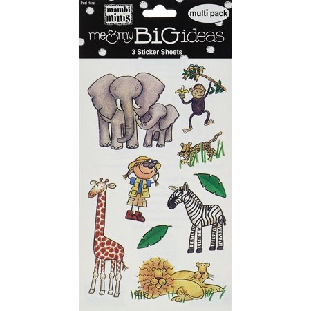 Me & My Big Ideas Minis Stickers  Safari Animals - Safari Ideas