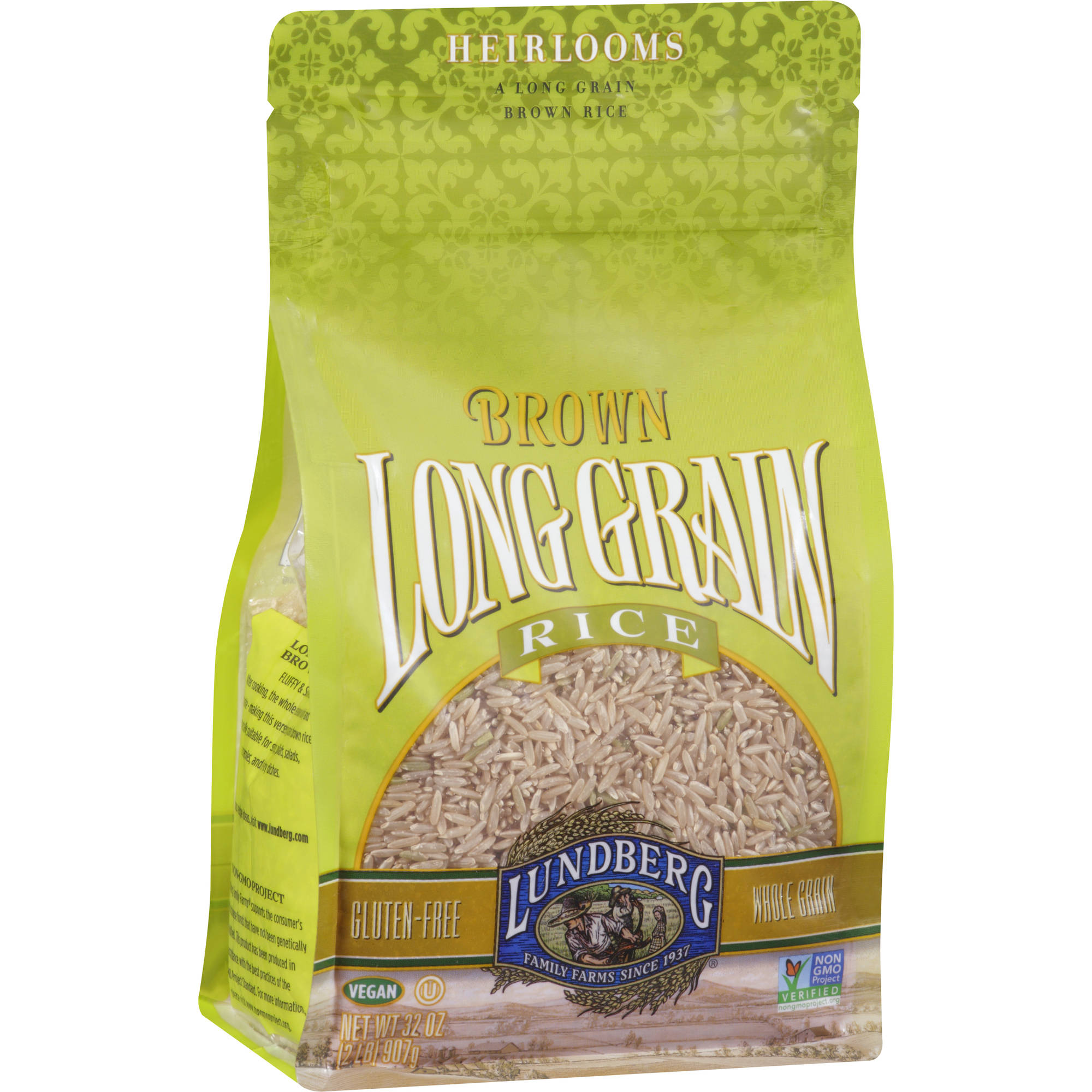 Lundberg Family Farms Long Grain Brown Rice, 32 oz (Pack of 6)