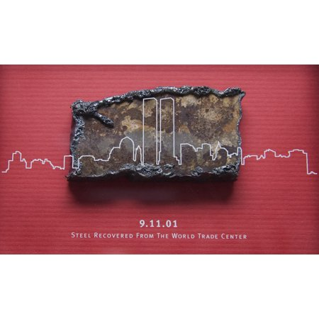 Steel recovered from the World Trade Center is displayed aboard the amphibious transport dock ship Poster Print 24 x (Store Display Poster)