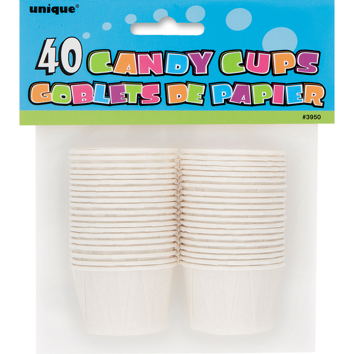 "Candy Cup 1.75"" 40/Pkg - White"