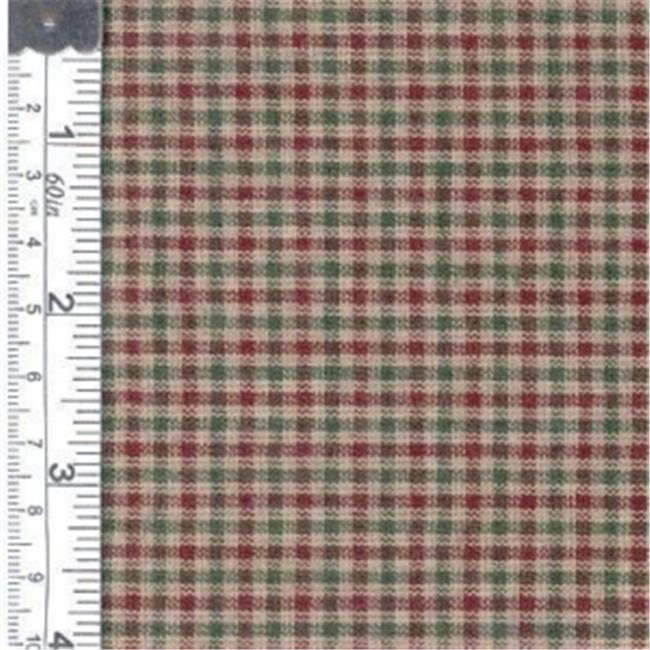 Textile Creations CC-320 Country Cupboard Fabric, Green Check, 15 yd.