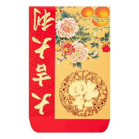Chinese New Year Red Envelope Good Luck Blessing 10pcs (Random Theme Provided) - Red Envelopes Chinese New Year