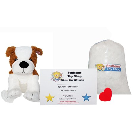 Make Your Own Stuffed Animal Mini 8 Inch Bull Dog Kit - No Sewing - Make Your Own Dog