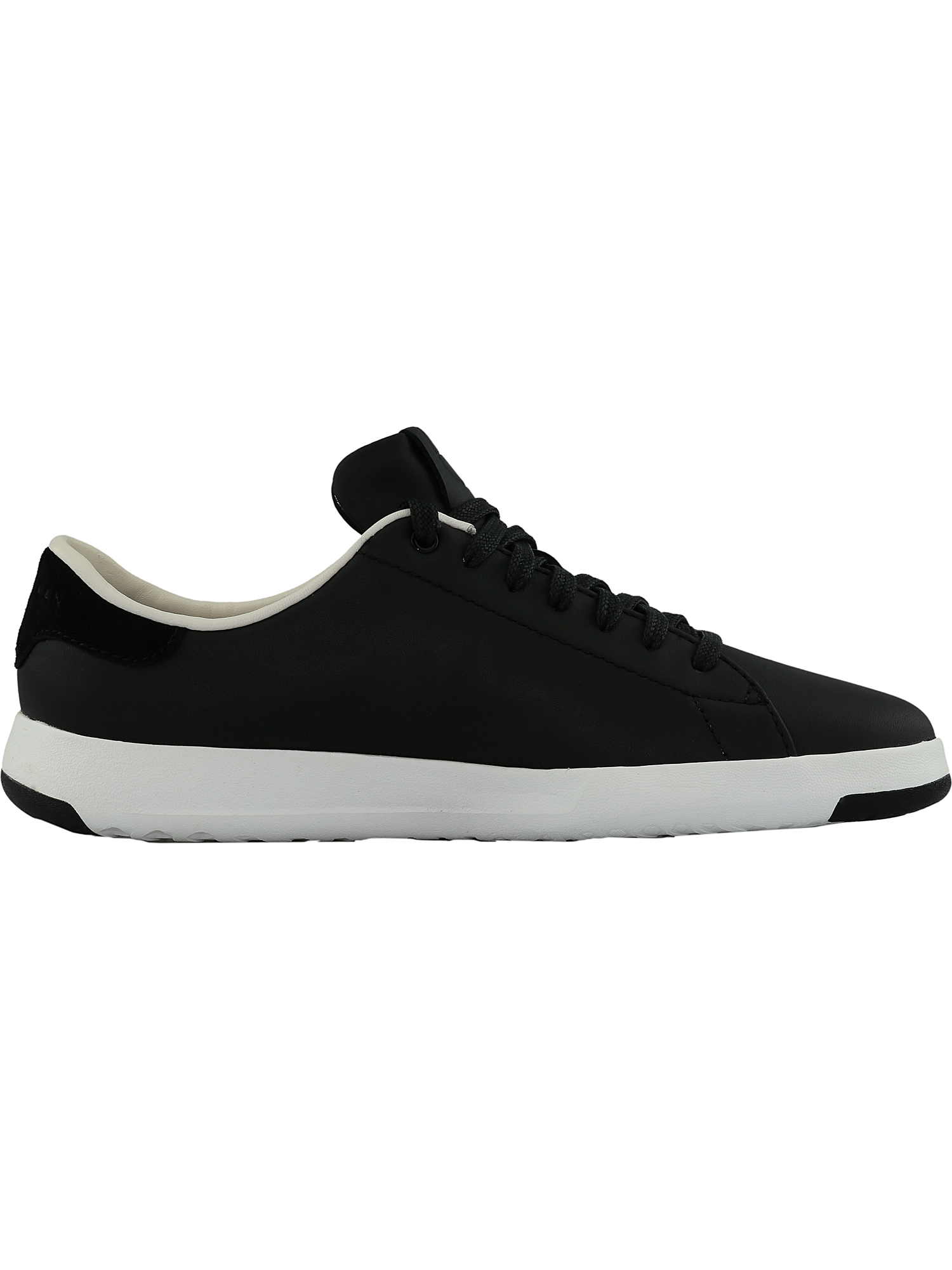 Cole Haan Women's Grandpro Tennis Ankle-High Black / Optic White Ankle-High Tennis Leather Fashion Sneaker - 7.5M 90246e