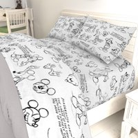 Mickey Mouse Black & White Sketch Sheet Set