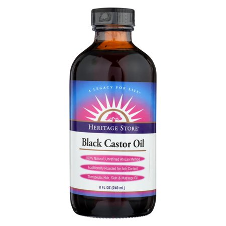 Heritage Store Castor Oil - Black - 8 Fl