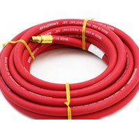 """GHP 3/8""""x25' 250 Working PSI 1070 Burst PSI Red 1/4"""" Fitting Air Compressor Hose"""