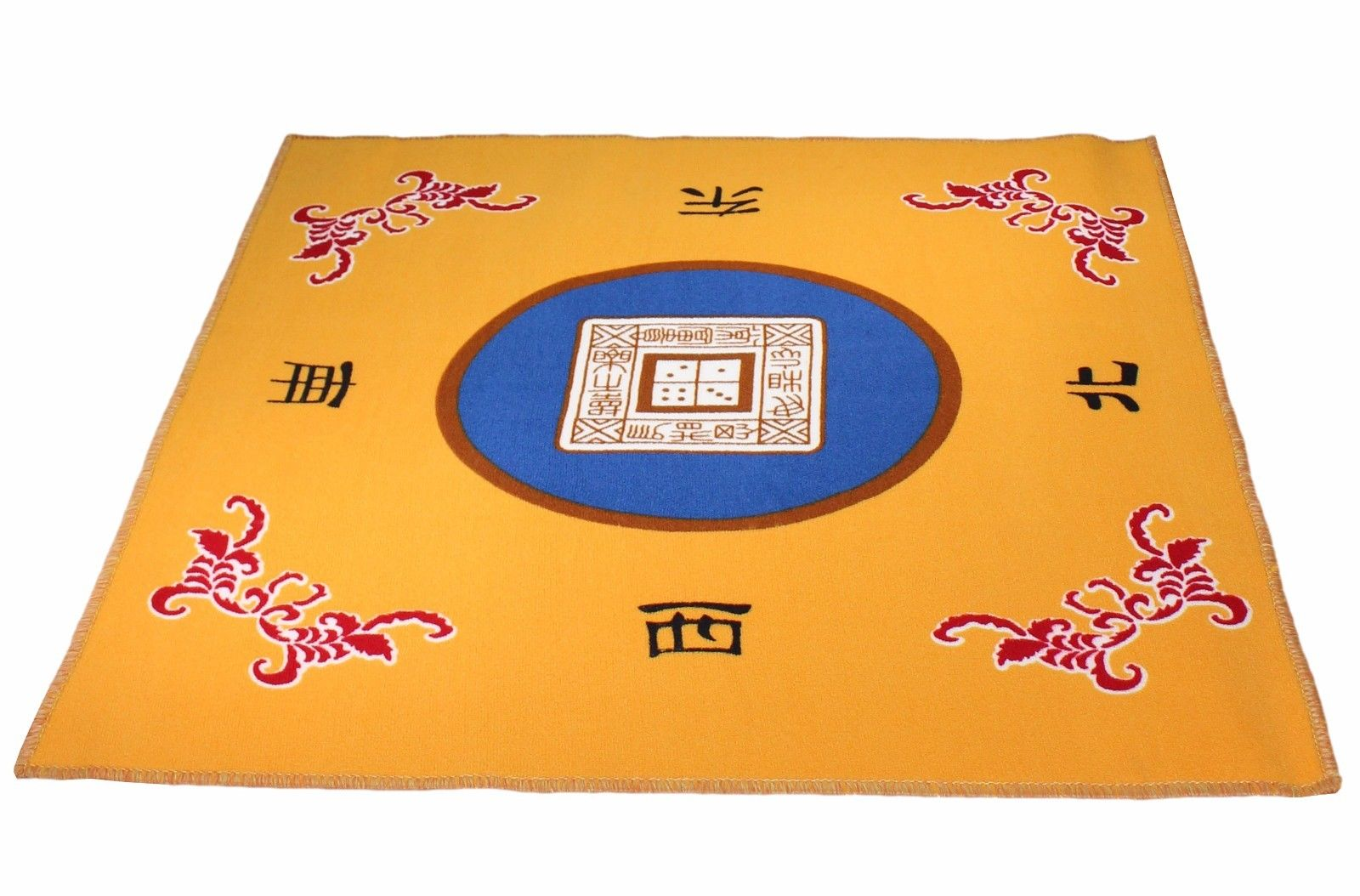 """31.5"""" Table Cover Slip Resistant Mahjong Game   Poker   Dominos   Card Tablecover Table Top Mat Yellow by"""