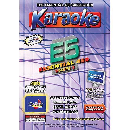 Chartbuster Essential 450 Vol. E5- 450 MP3G SD CARD KARAOKE CDG MUSIC 4 PLAYER