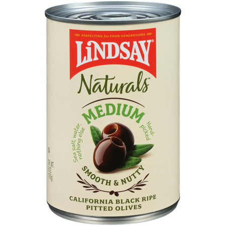 (3 Pack) Lindsay Naturals Black Ripe Olives 6 Oz Pull-Top