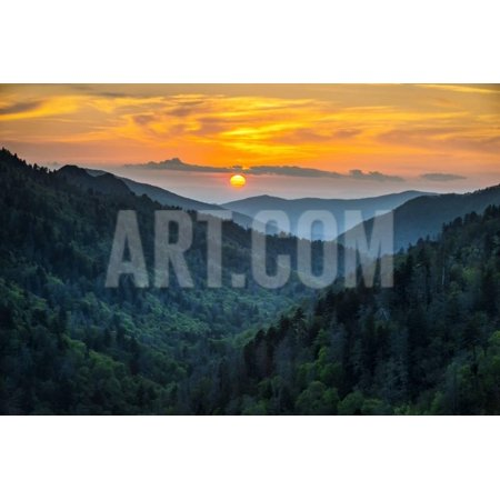 Gatlinburg Tn Great Smoky Mountains National Park Scenic Sunset Landscape Photography Print Wall Art By daveallenphoto