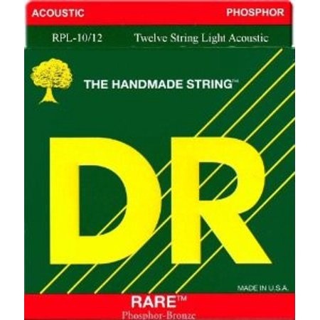 Rare Phosphor Bronze Acoustic Guitar - DR Strings Rare Phosphor Bronze Lite 12-String Acoustic Guitar Strings