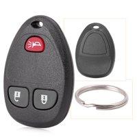 GZYF Car Keyless Entry Remote Control Key Fob Replacement for 3-Button for GMC Sierra 1500 2500 3500 Chevrolet Silverado - 2011 2012 2013, Black