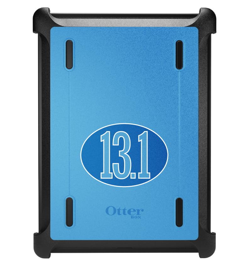 CUSTOM Black OtterBox Defender Series Case for Apple iPad Air 1 (2013 Model) - Blue 13.1 Oval Half Marathon Run