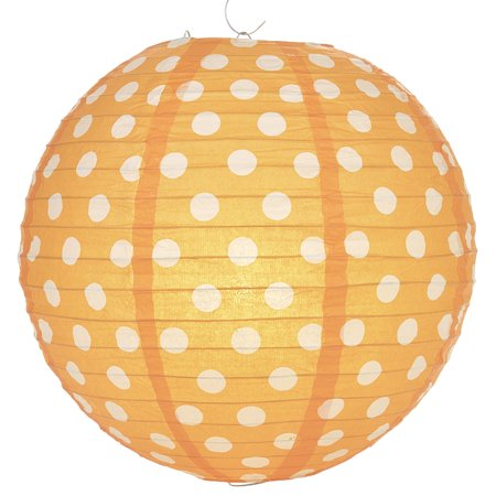 Orange Lanterns (Quasimoon Orange Polka Dot Paper Lantern by)