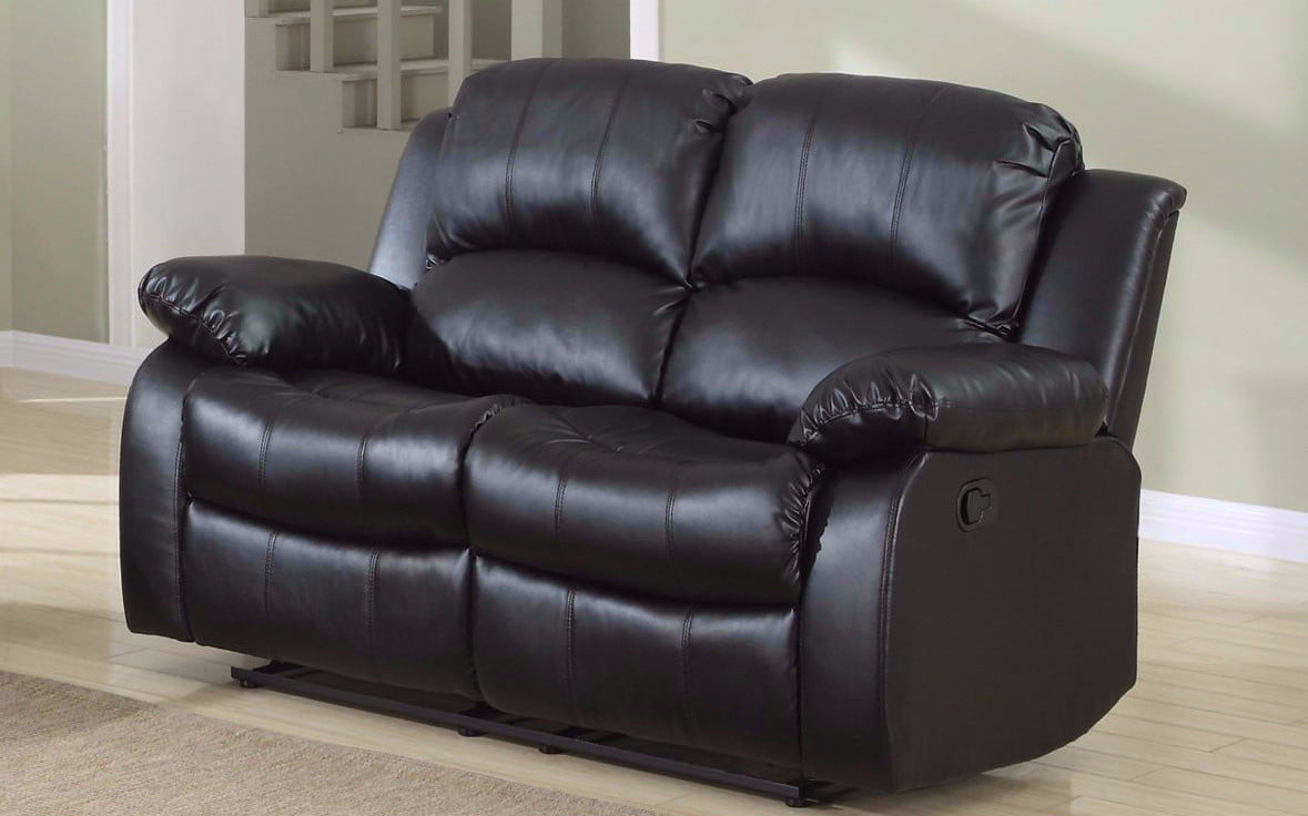 Superb Classic 2 Seat Bonded Leather Double Recliner Loveseat Walmart Com Gamerscity Chair Design For Home Gamerscityorg