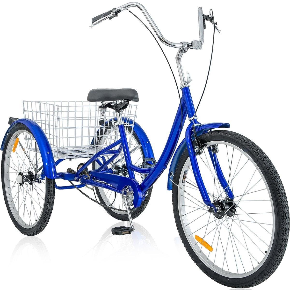 """Merax 26"""" 3 Wheel Bike Adult Tricycle Trike Cruise Bike, Multiple Colors by Merax"""