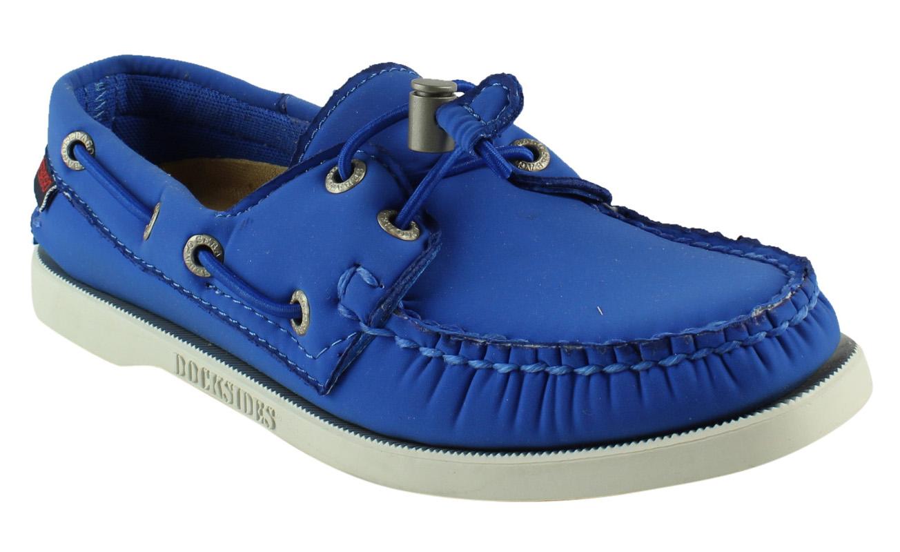 New Sebago Womens B500219 BlueAriaprene Flats Size 5 by Sebago