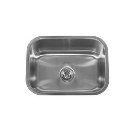 Delacora Dss182318c 23 1 2 Single Basin Undermount Stainless Steel Sink With Sound