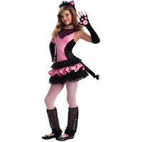 Child Girls Black Kitty Tween Halloween Costume
