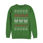 Men's Cat Ugly Christmas Sweater Sweatshirt