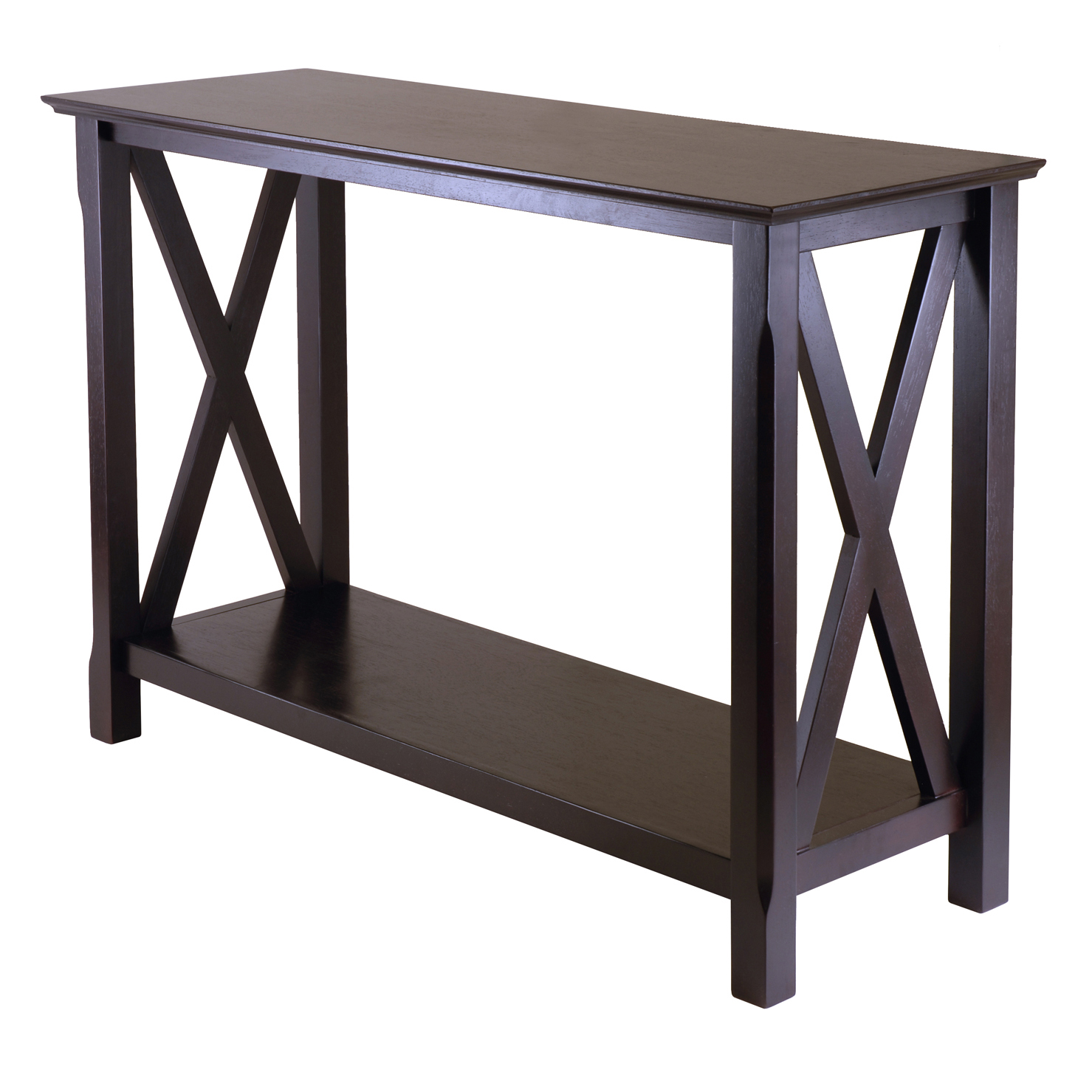 Winsome Wood Xola X Panel Console Table, Cappuccino Finish