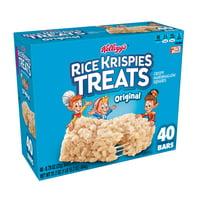 Kelloggs Rice Krispies Treats Crispy Marshmallow Squares Bars 31.2oz 40 Ct