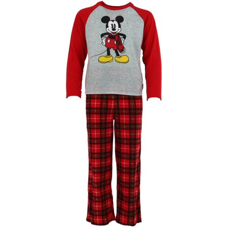 Size  4 Boy's Mickey Mouse Fleece Pajama Set for $<!---->