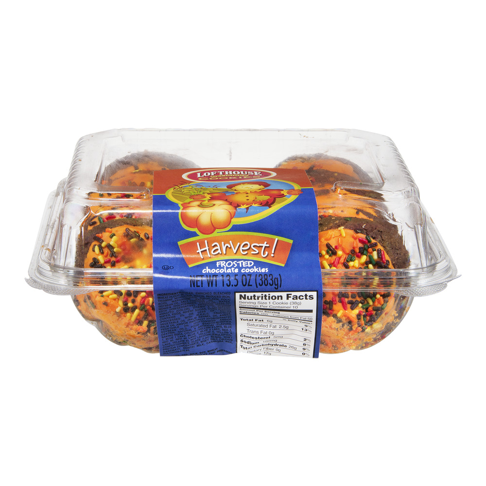 Lofhouse Harvest Frosted Chocolate Cookies - 10 CT