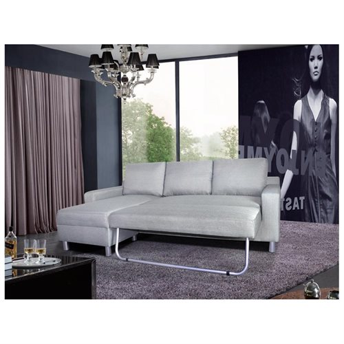 US Pride Furniture Kachy Fabric Convertible Sleeper Sectional Sofa Bed & Facing Left Chaise