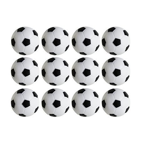 36mm Table Soccer Foosballs Replacements Mini Black and White Soccer Balls - Set of 12 by Super Z Outlet® - Black Super Balls