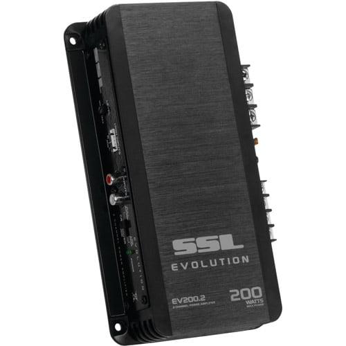 Sound Storm EVOLUTION Series EV200.2 Class AB 200-Watt 2-Channel MOSFET Amp, Black