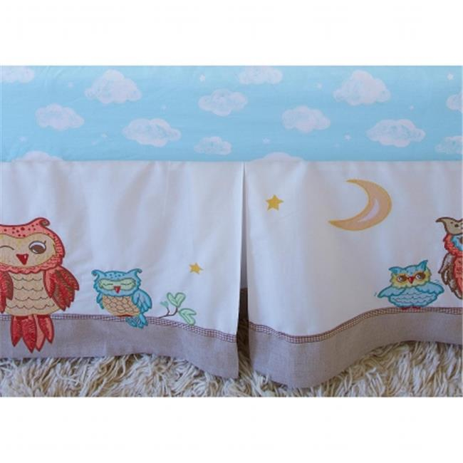 Little Acorn F13B03 Baby Owls Crib Skirt