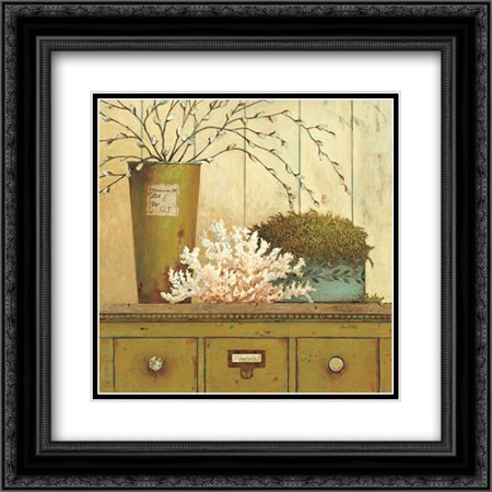 (Vintage Garden 1 2x Matted 20x20 Black Ornate Framed Art Print by Fisk, Arnie)