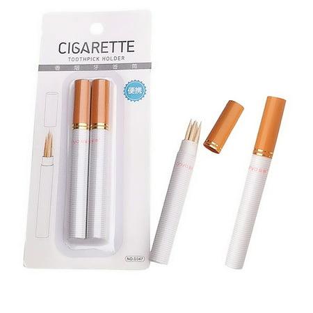 Outdoor Portable Two Sticks Cigarette Shape Toothpick Holder