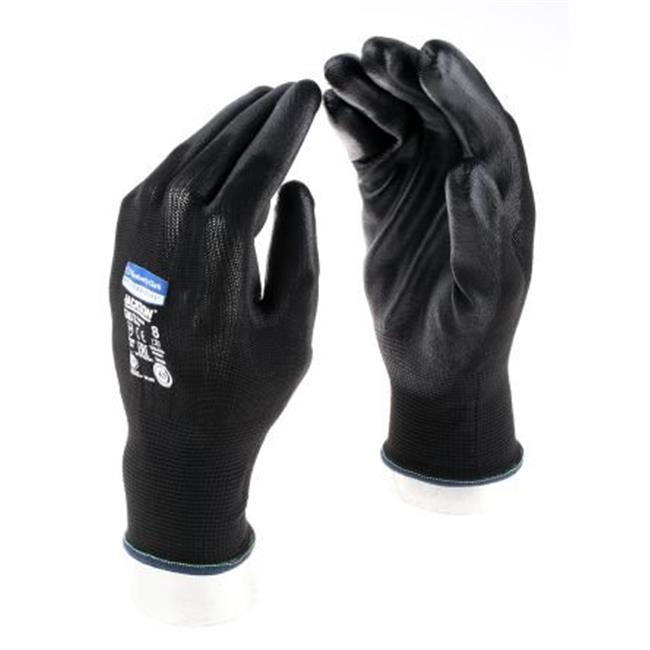 Kimberly Clark 13838 Reusable Gloves Polyurethane-Coated Gloves, Size 8, Black - 12 Pair
