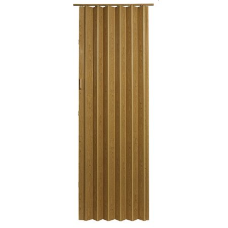 "HomeStyles Plaza Vinyl Accordion Door, 48"" x 96"", Oak"