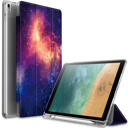 Infiland Slim Wake/Sleep Translucent Frosted Back Cover Case for iPad Pro 10.5