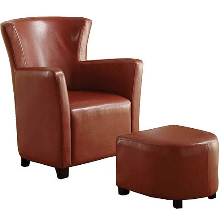Peachy Venetian Half Moon Bay Ii Leatherette Club Chair With Ottoman Mahogany Red Beatyapartments Chair Design Images Beatyapartmentscom