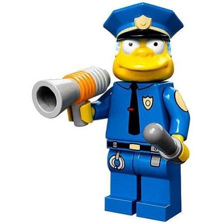 LEGO Minifigure - The Simpsons - CHIEF WIGGUM with Police Baton &